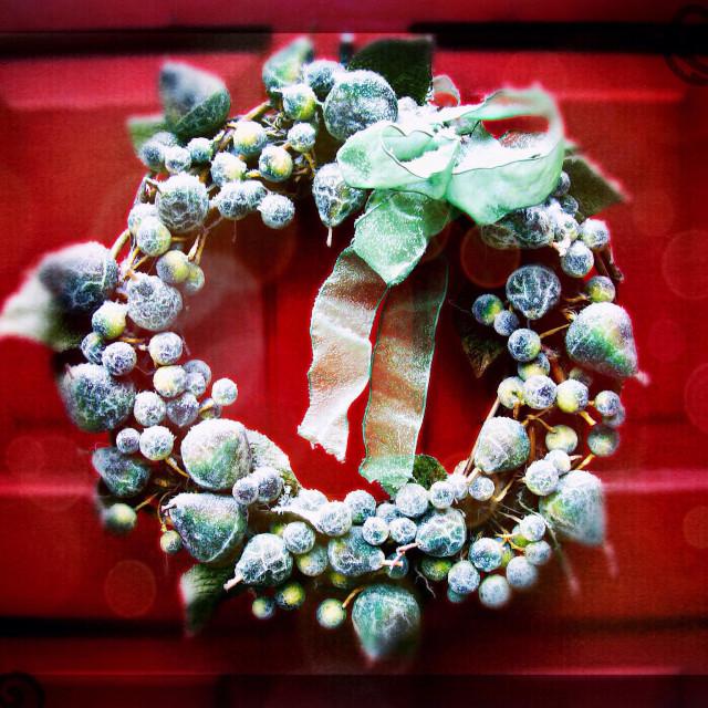 """Winter wreath"" stock image"