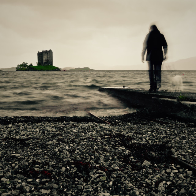 """The way to Castle Stalker"" stock image"