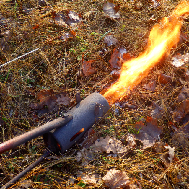 """Flame Gun or flame thrower"" stock image"