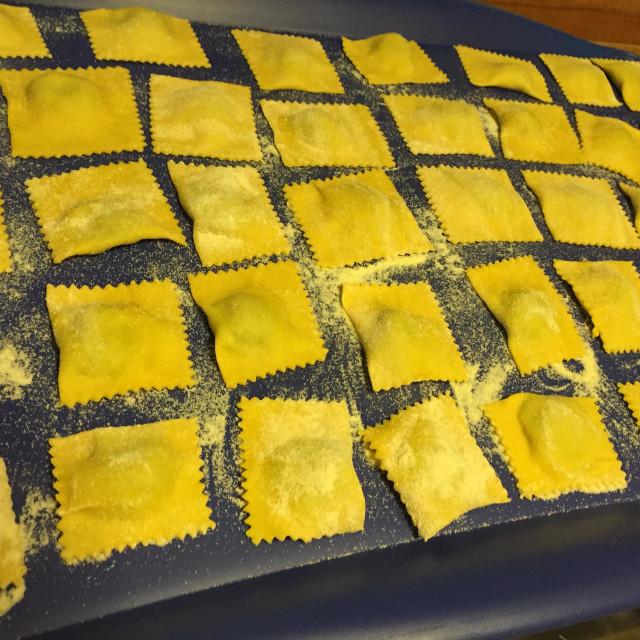 """Ravioli ricotta and spinaci"" stock image"