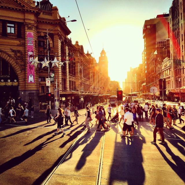 """Summer in Melbourne, Australia"" stock image"