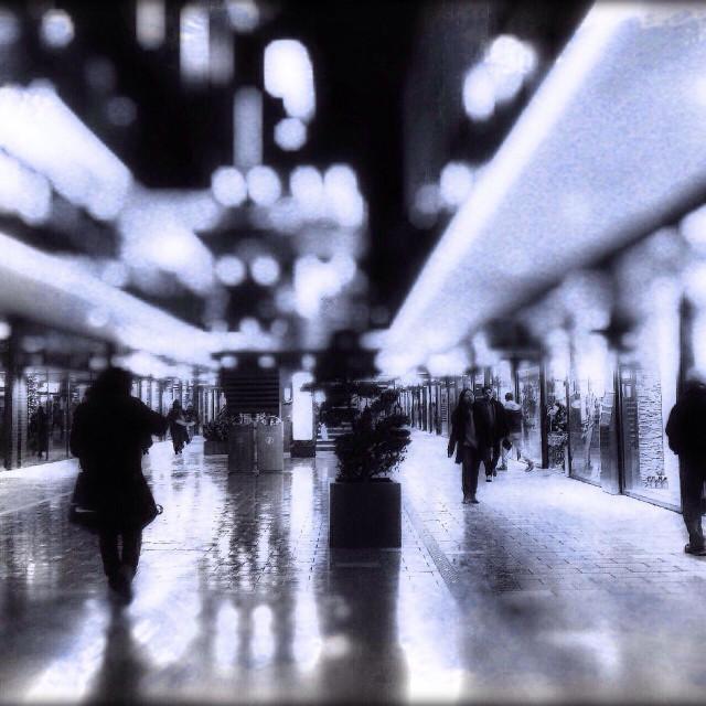 """""""London designer outlet at night, Wembley Park, Brent, UK"""" stock image"""