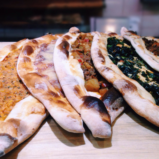 """Turkish food, pide"" stock image"