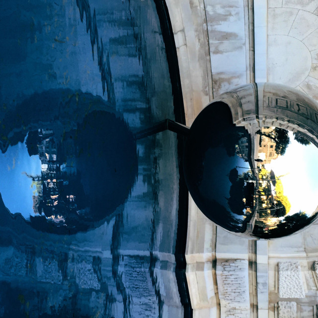 """""""Abstract view of two oval spheres"""" stock image"""