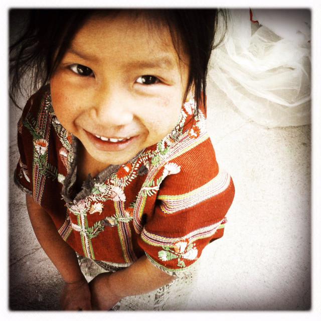 """A maya indigenous girl in Tierra Linda, a Mayan village near lake Atitlan, Solola, Guatemala."" stock image"