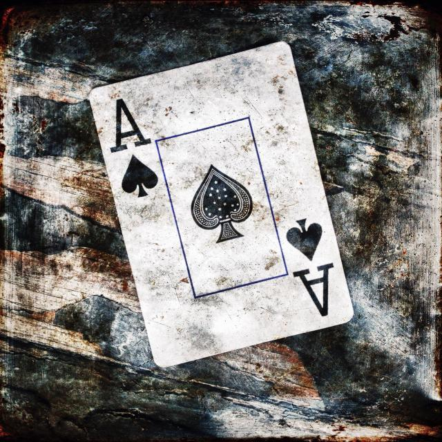 """The ace of spades from a deck of playing cards."" stock image"