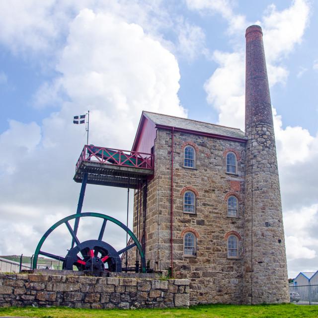 """""""Mitchells shaft engine house"""" stock image"""