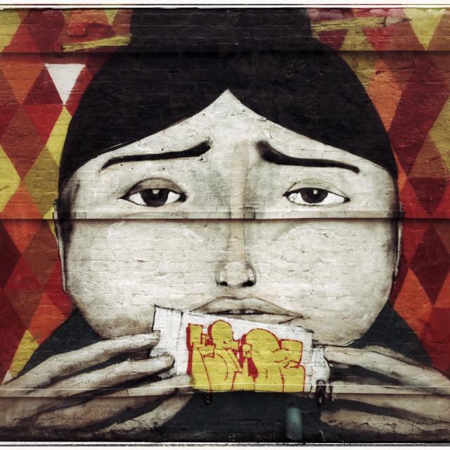"""Graffiti,Bethnal Green,London"" stock image"