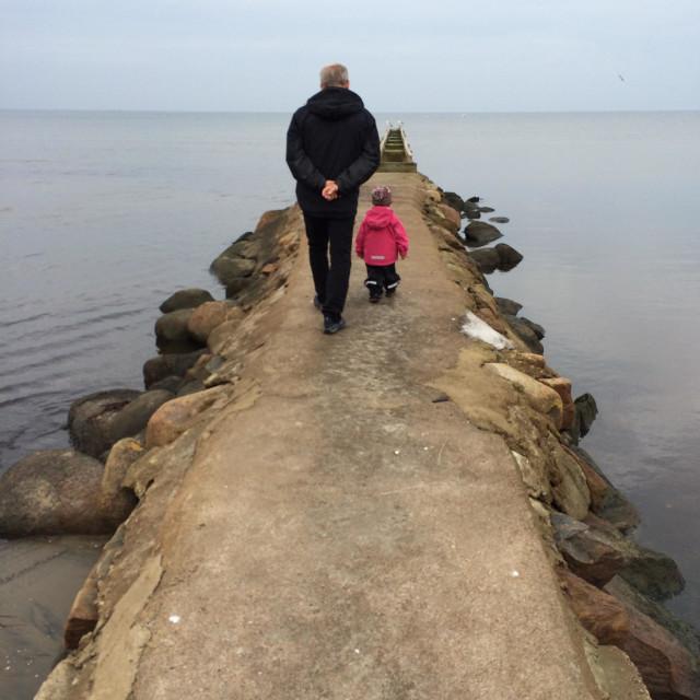 """Me and My Grandpa"" stock image"