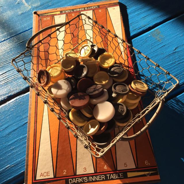 """Backgammon board"" stock image"