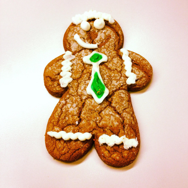 """Boyfriend dujour , gingerbread man"" stock image"