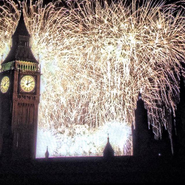 """London happy new year 2015"" stock image"