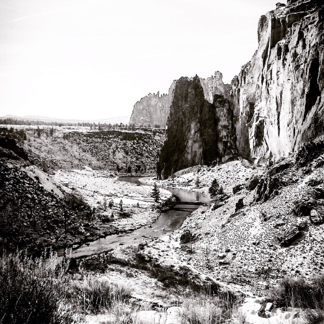 """River at smith rock"" stock image"