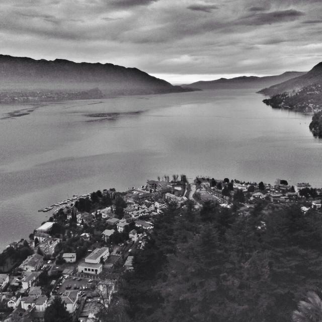 """""""Lago Maggiore view"""" stock image"""