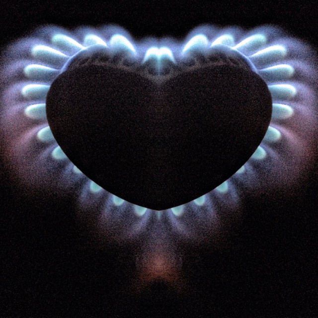 """Symmetrical effect on gas ring"" stock image"