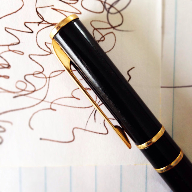 """""""Fountain pen with doodles"""" stock image"""