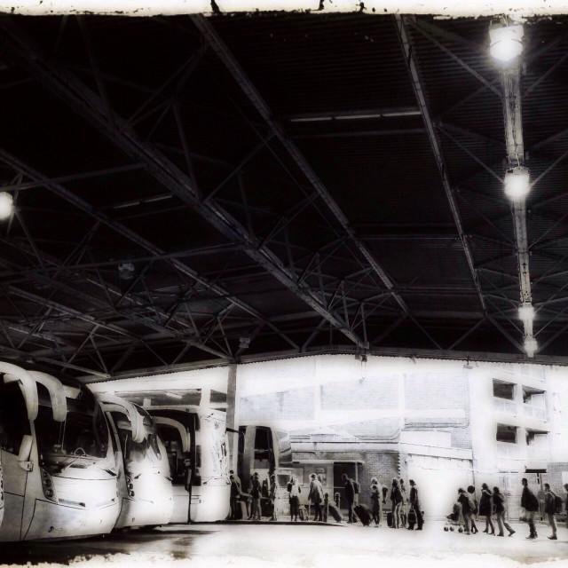 """Victoria coach station, London, UK"" stock image"