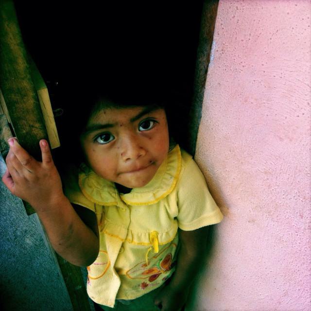 """A maya indigenous girl in Panajachel, Solola, Guatemala."" stock image"