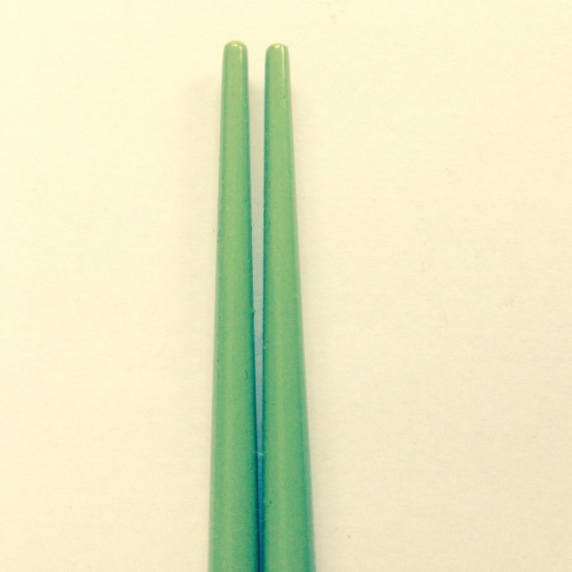 """Green Chopsticks"" stock image"