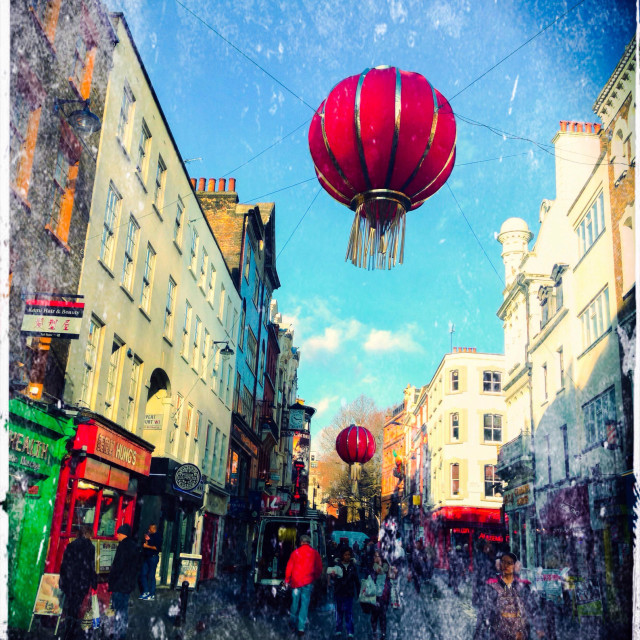 """""""Chinatown, Leicester Square, City of Westminster, London, UK"""" stock image"""