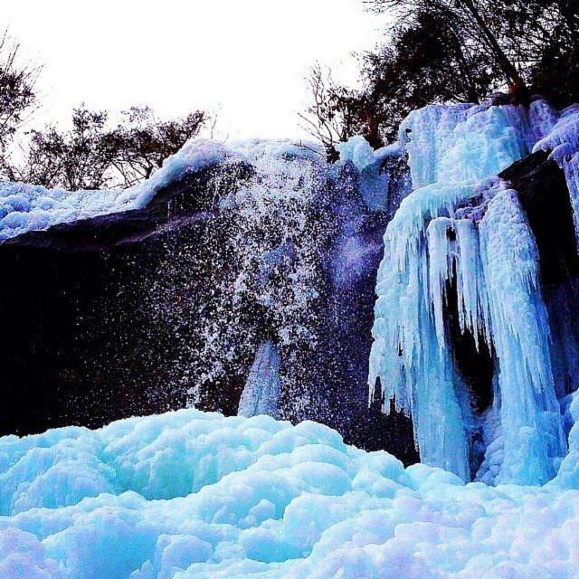 """Winter waterfall Pennsylvania"" stock image"