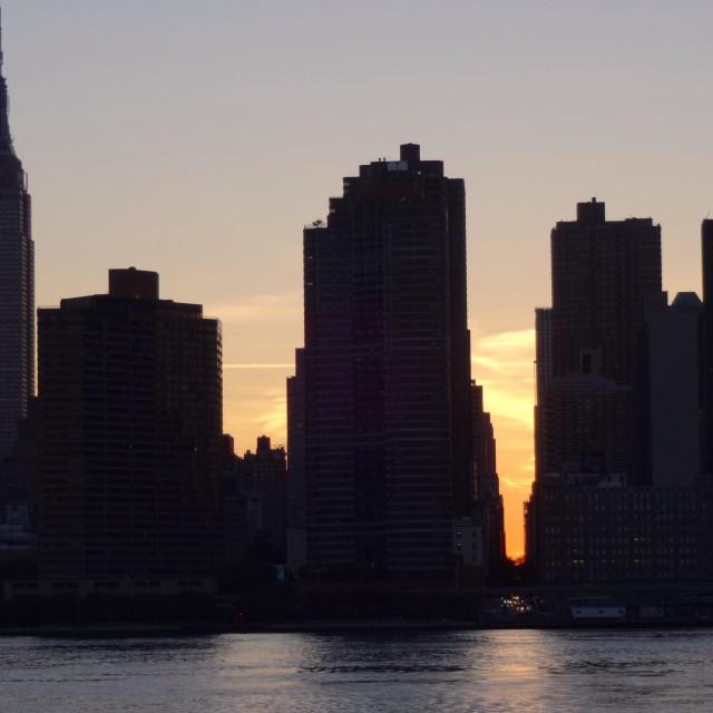 """""""Manhattanhenge"""" stock image"""