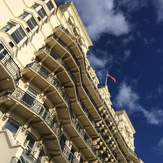 """The Grand hotel Brighton."" stock image"
