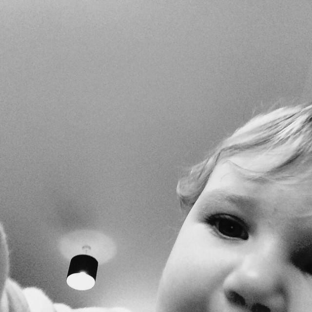 """""""Photobomb baby"""" stock image"""