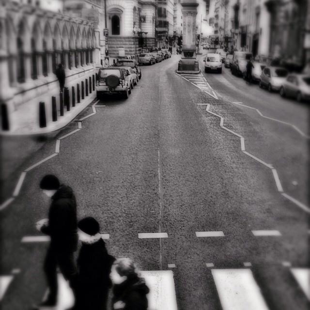 """""""Zebra crossing in the City of London, UK"""" stock image"""