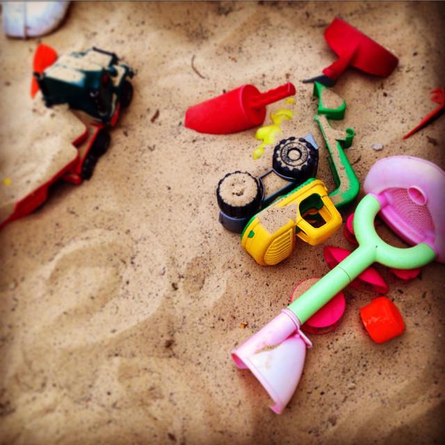 """""""Pre-school Sandpit"""" stock image"""