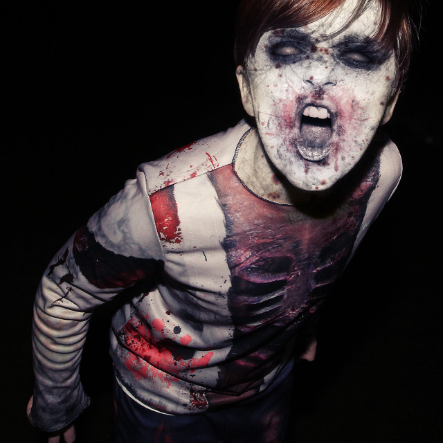 """""""Scary Zombie Boy at Halloween"""" stock image"""