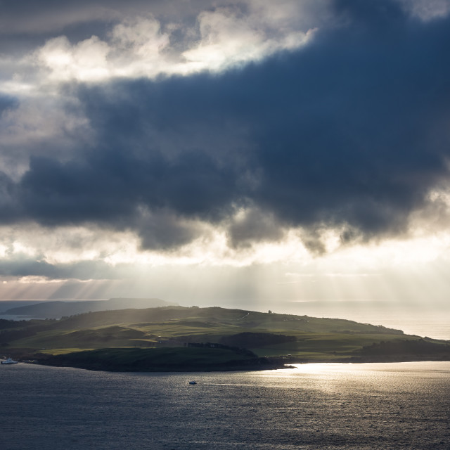 """Rays over Great Cumbrae"" stock image"