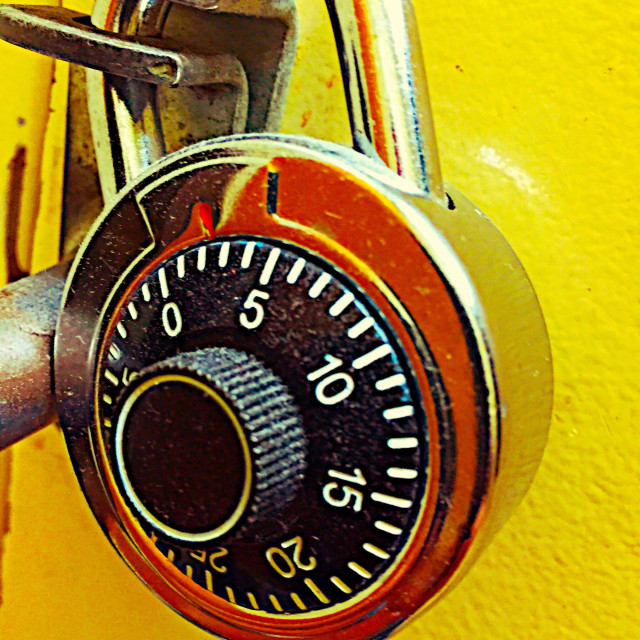 """""""A round combination lock."""" stock image"""