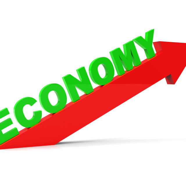 """Improve Economy Represents Improvement Plan And Advance"" stock image"