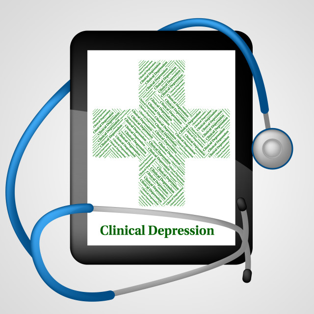 """Clinical Depression Shows Crack Up And Ailment"" stock image"