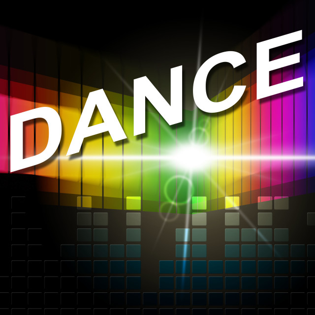 """""""Dance Music Indicates Sound Track And Soundtrack"""" stock image"""