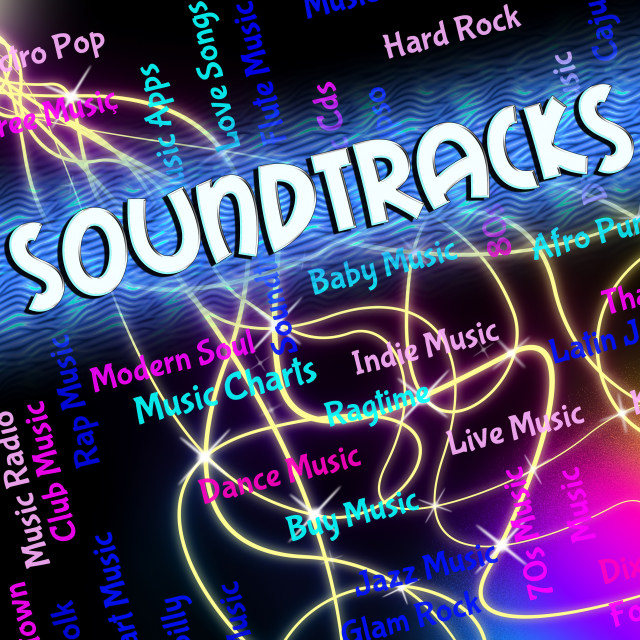 """""""Soundtracks Music Shows Video Game And Melodies"""" stock image"""