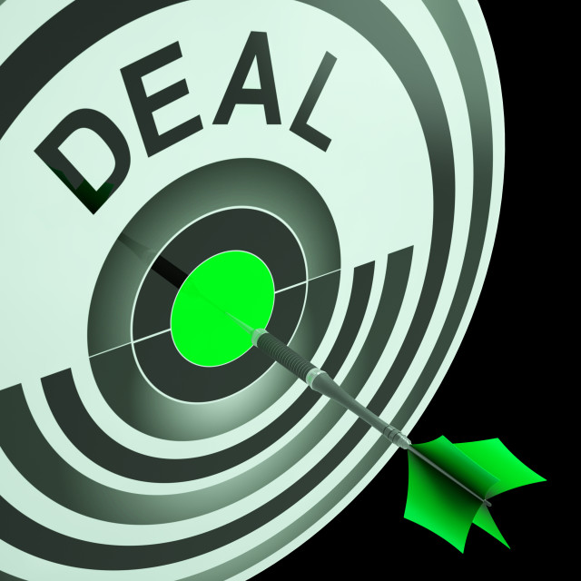 """""""Deal Shows Reduction or Bargain"""" stock image"""