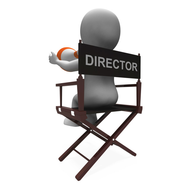"""Director Character Shows Hollywood Movie Directors Or Filmmaker"" stock image"