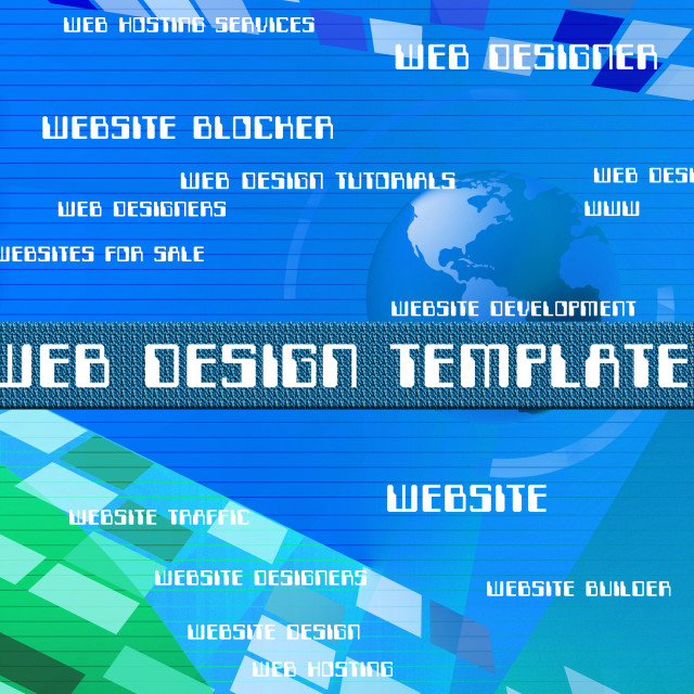 """Web Design Templates Indicates Words Websites And Online"" stock image"