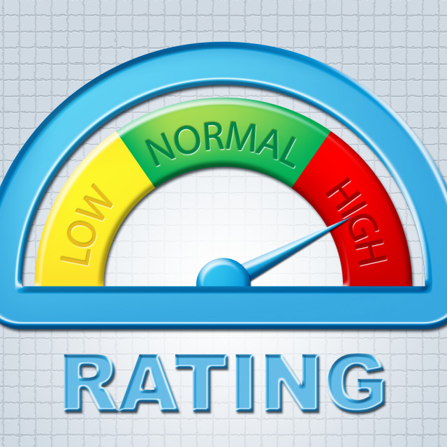 """""""High Rating Indicates Percentage Dial And Excess"""" stock image"""