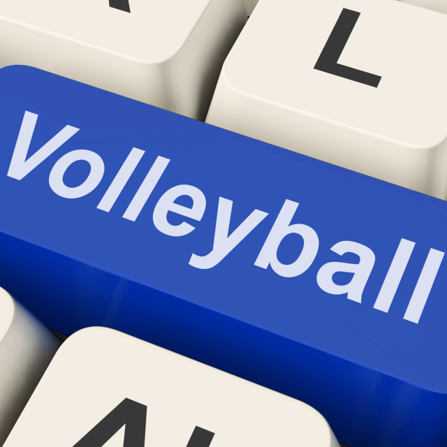 """Volleyball Key Showing Volley Ball Game Online"" stock image"