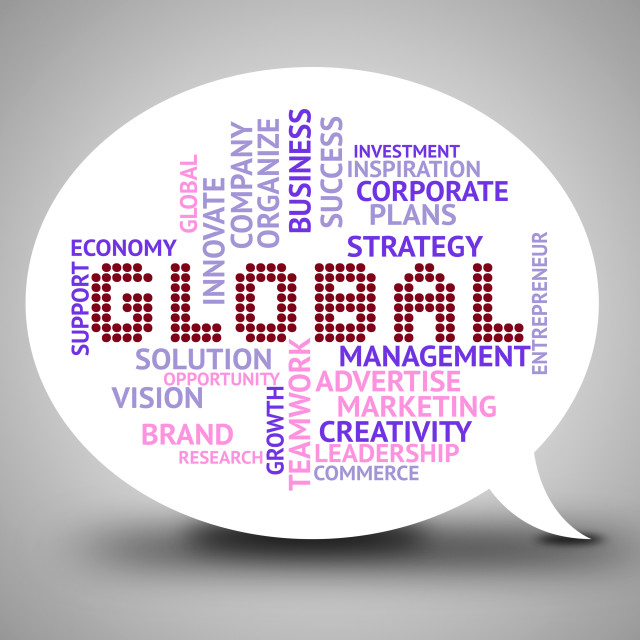 """Global Bubble Means World Globalisation 3d Illustration"" stock image"