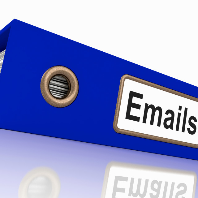 """""""Emails File Showing Contacts and Correspondence"""" stock image"""