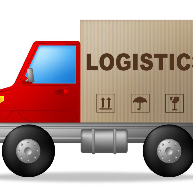 """""""Logistics Truck Shows Strategies Logistical And Transporting"""" stock image"""