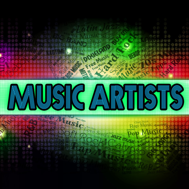 """""""Music Artists Shows Sound Track And Audio"""" stock image"""