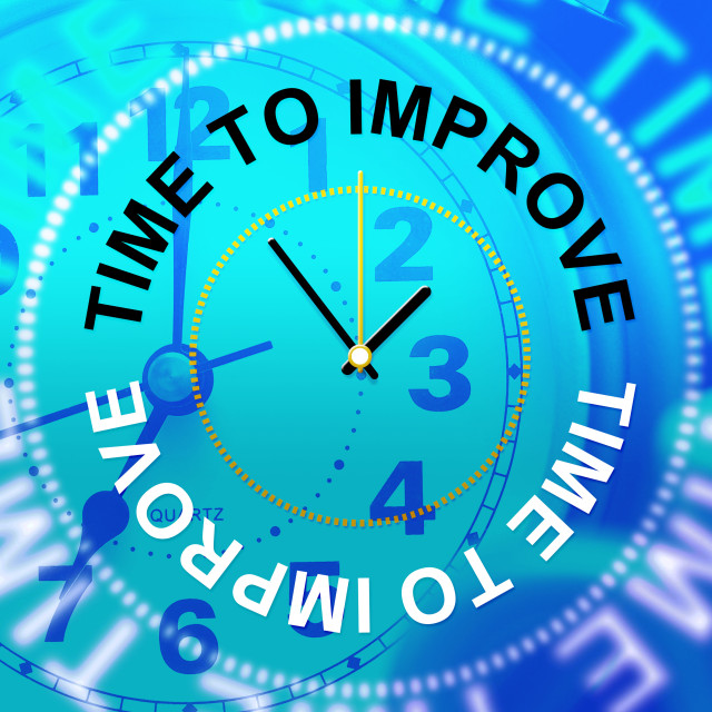 """Time To Improve Means Improvement Plan And Growth"" stock image"
