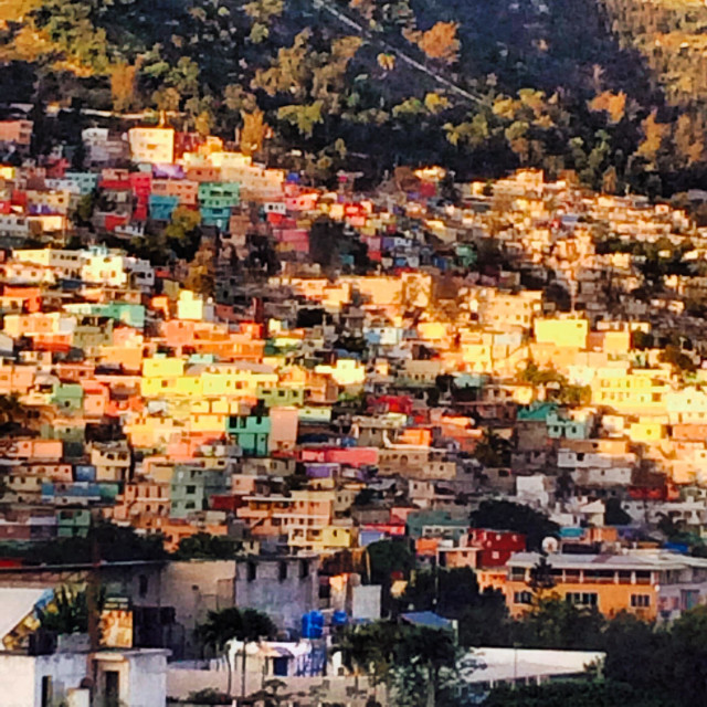 """Jalousie neighborhood of Port Au Prince, Haiti."" stock image"