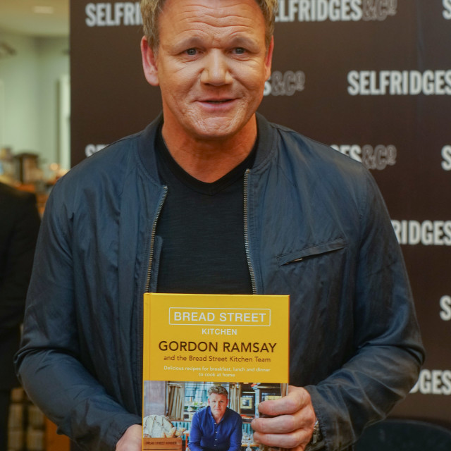 """Celebrity Chef Gordon Ramsey signs latest book at Selfridges,London,Uk"" stock image"