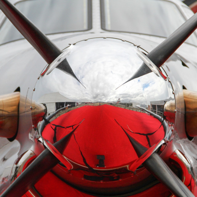 """""""Close up abstract of a vintage airplane propeller engine"""" stock image"""